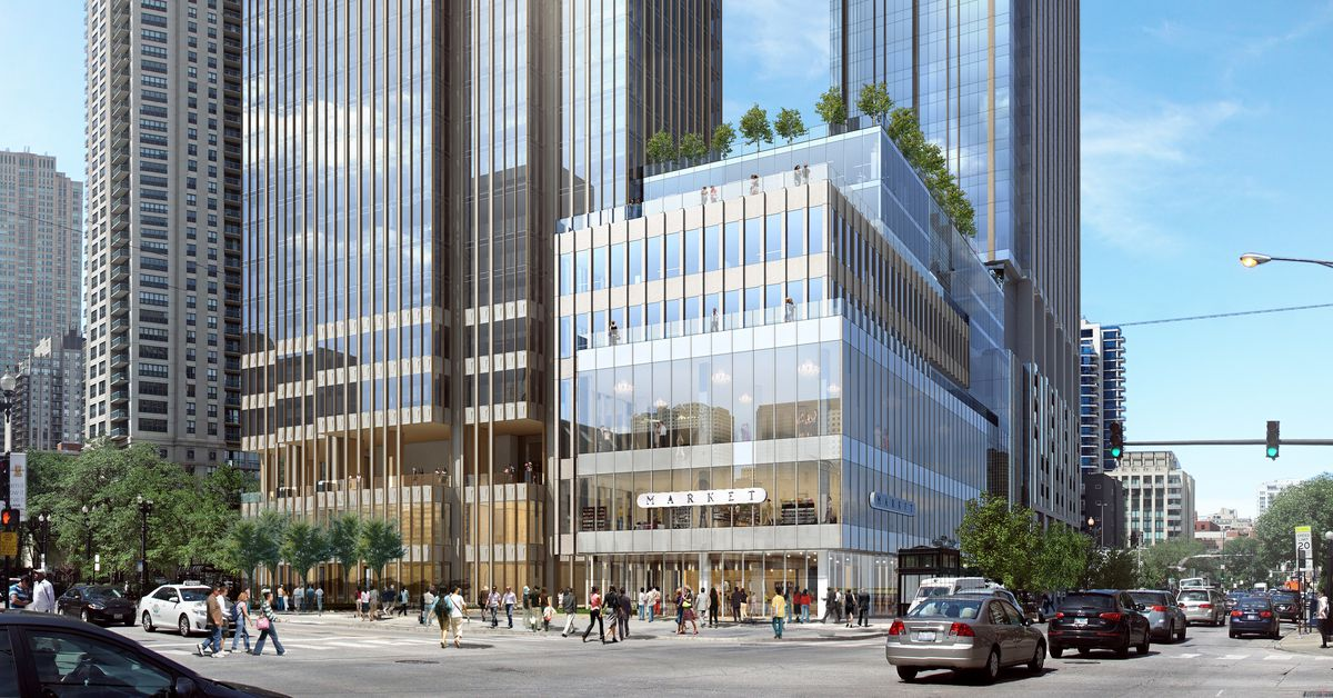 1 000 foot tall river north tower skyscraper poised for key city vote curbed chicago. Black Bedroom Furniture Sets. Home Design Ideas