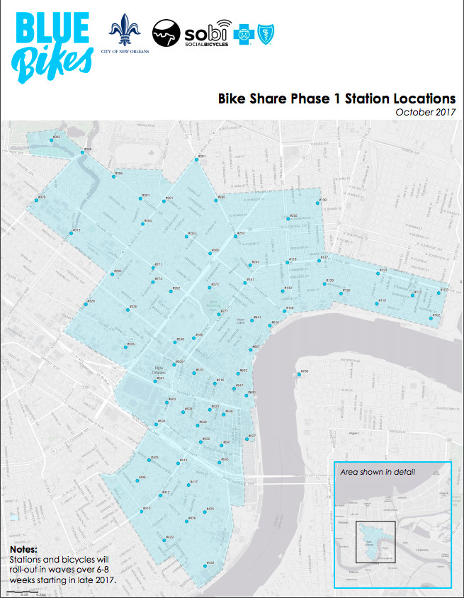 New Orleans bike share locations finalized, launches late 2017 ...