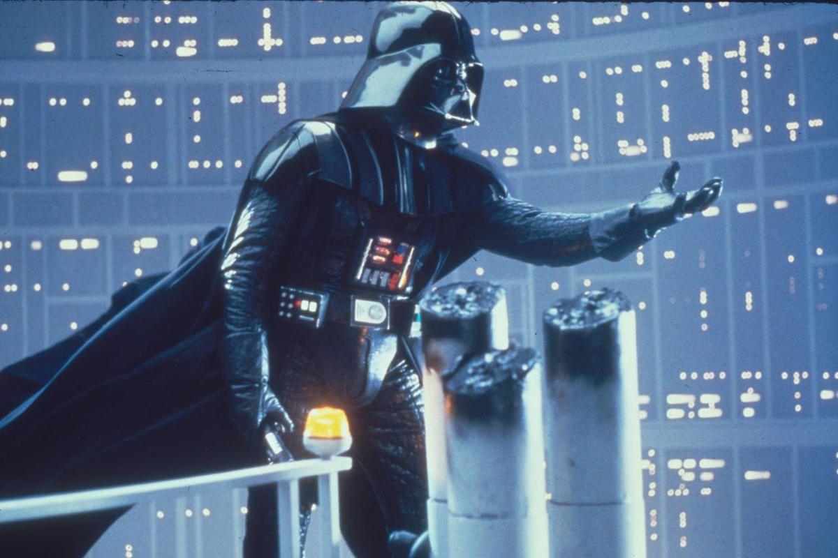 Darth Vader in Star Wars.