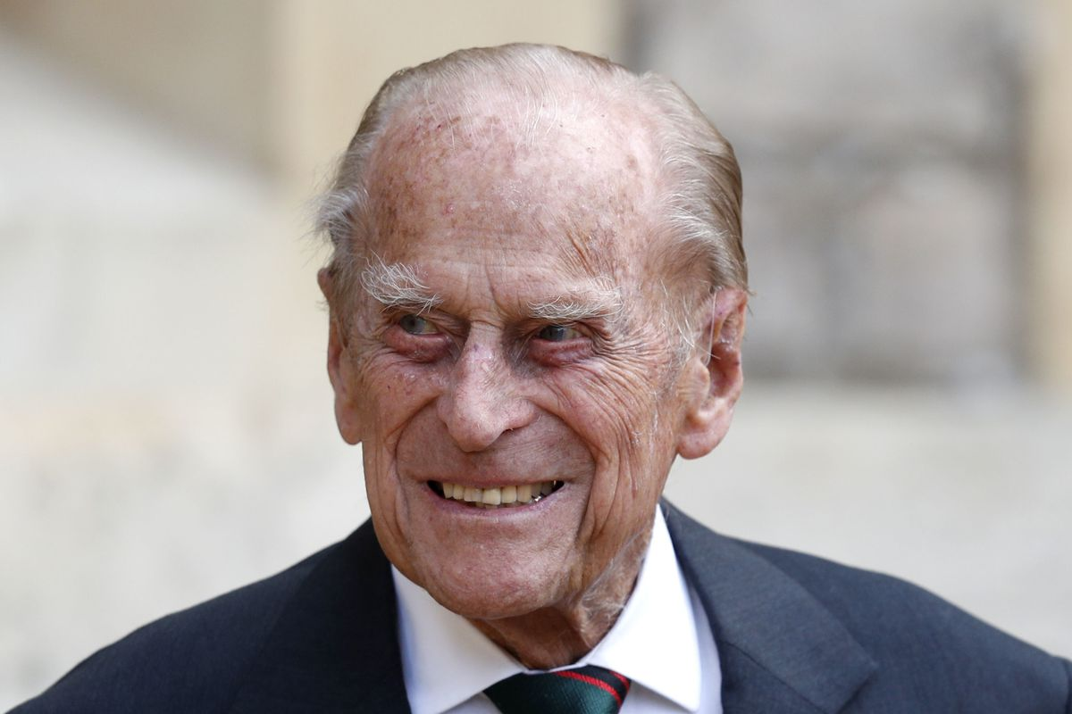 In this Wednesday July 22, 2020 file photo, Britain's Prince Philip arrives for a ceremony for the transfer of the Colonel-in-Chief of the Rifles from himself to Camilla, Duchess of Cornwall, at Windsor Castle, England.