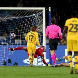 Griezmann grabs crucial away goal vs Napoli
