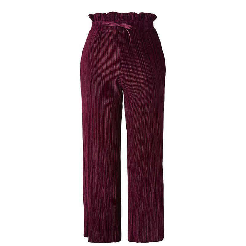 Topshop Velvet Ruffle Pant