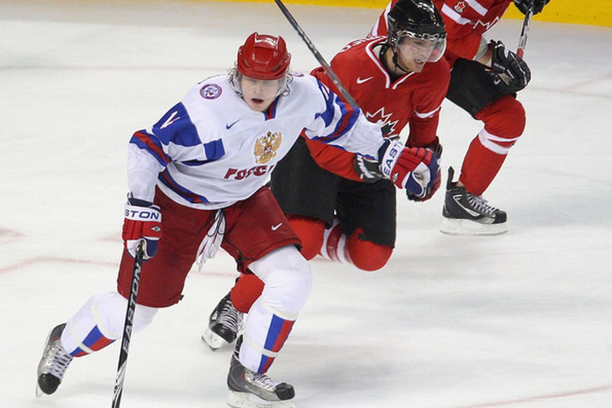 Danill Sobchenko was one of six MHL players taken in the 2011 NHL Entry Draft.  (Photo by Rick Stewart/Getty Images)