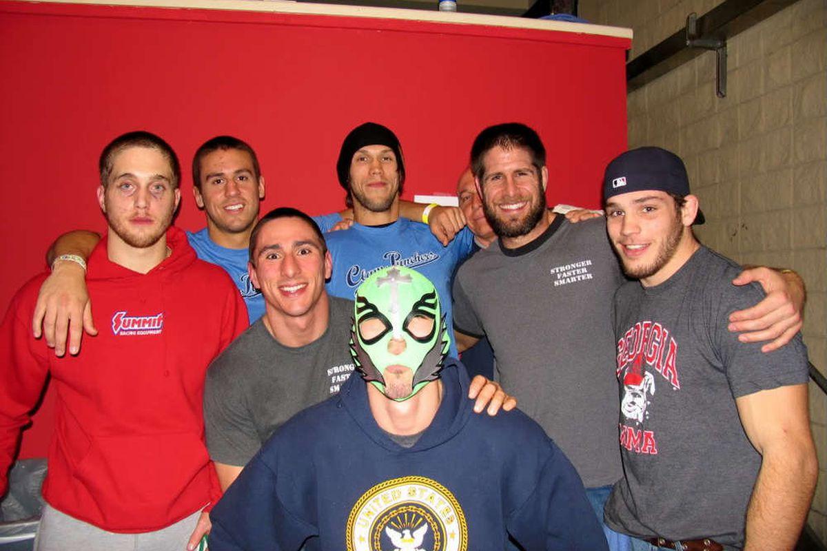 Jerrid Bruke (center with the mask) 5-0