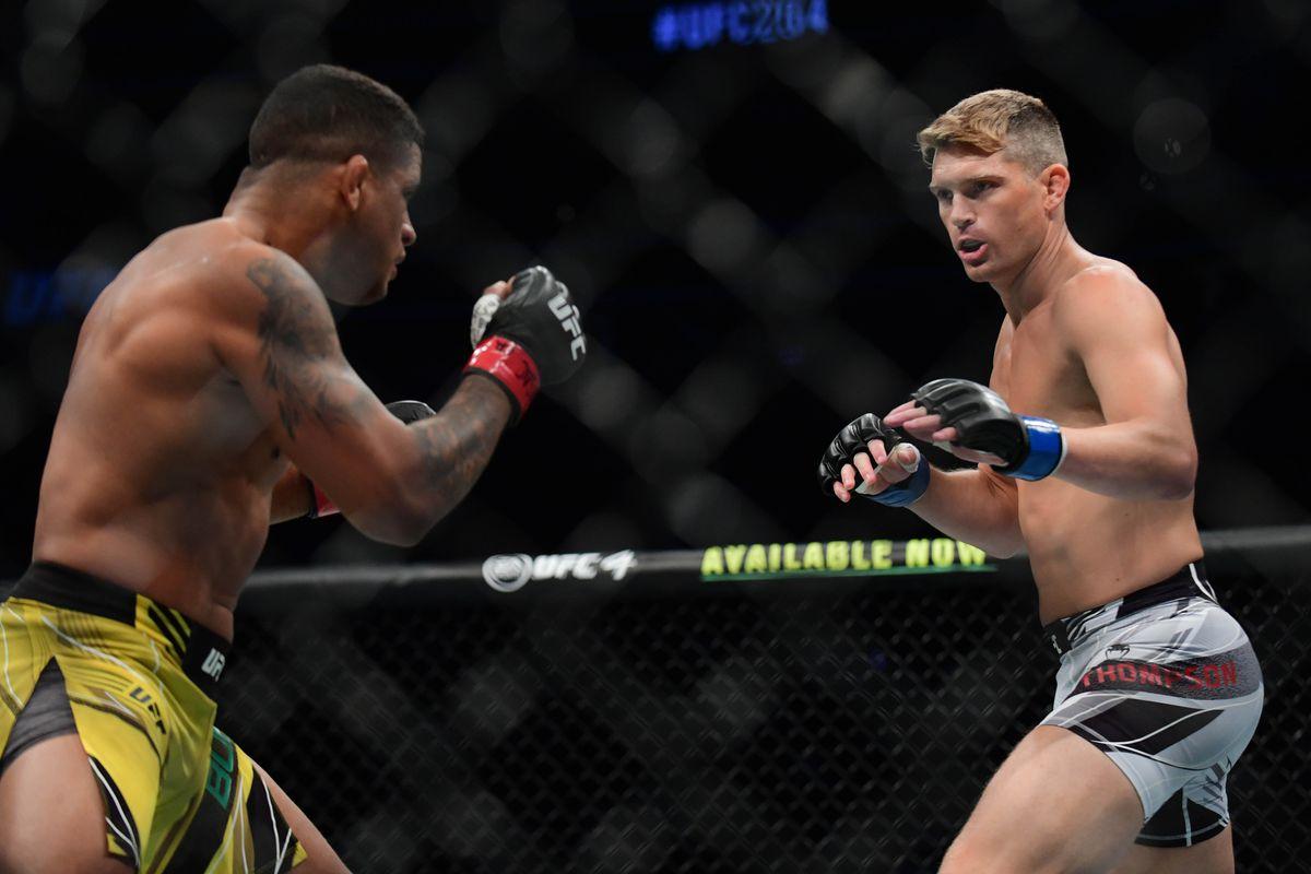 Gilbert Burns and Stephen Thompson at UFC 264