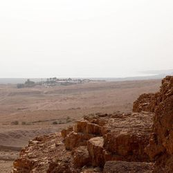 This view from the cave where the first set of Dead Sea Scrolls were found shows Qumran in the distance. photographed Nov. 5, 2013. Dead Sea Scrolls: Life and Faith in Ancient Times exhibit will be on display November through April 2014 at The Leonardo in Salt Lake City.