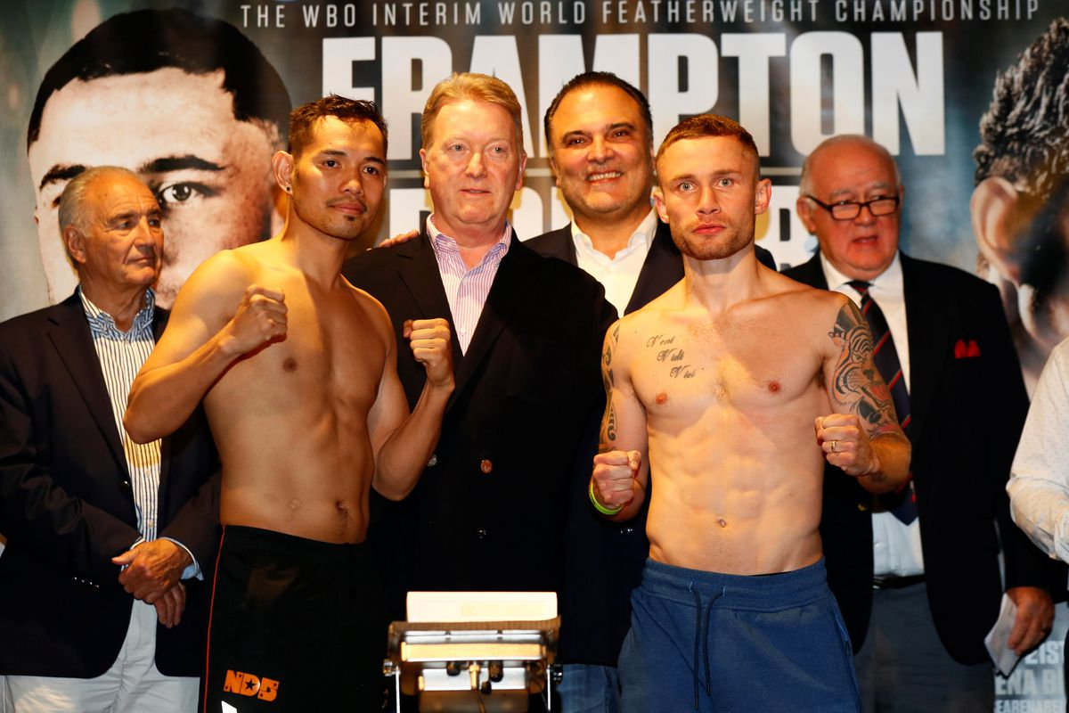 Action Images Via Reuters Featherweights Carl Frampton And Nonito Donaire