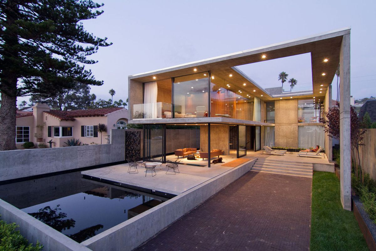 Wicked Cool Concrete Beach House In San