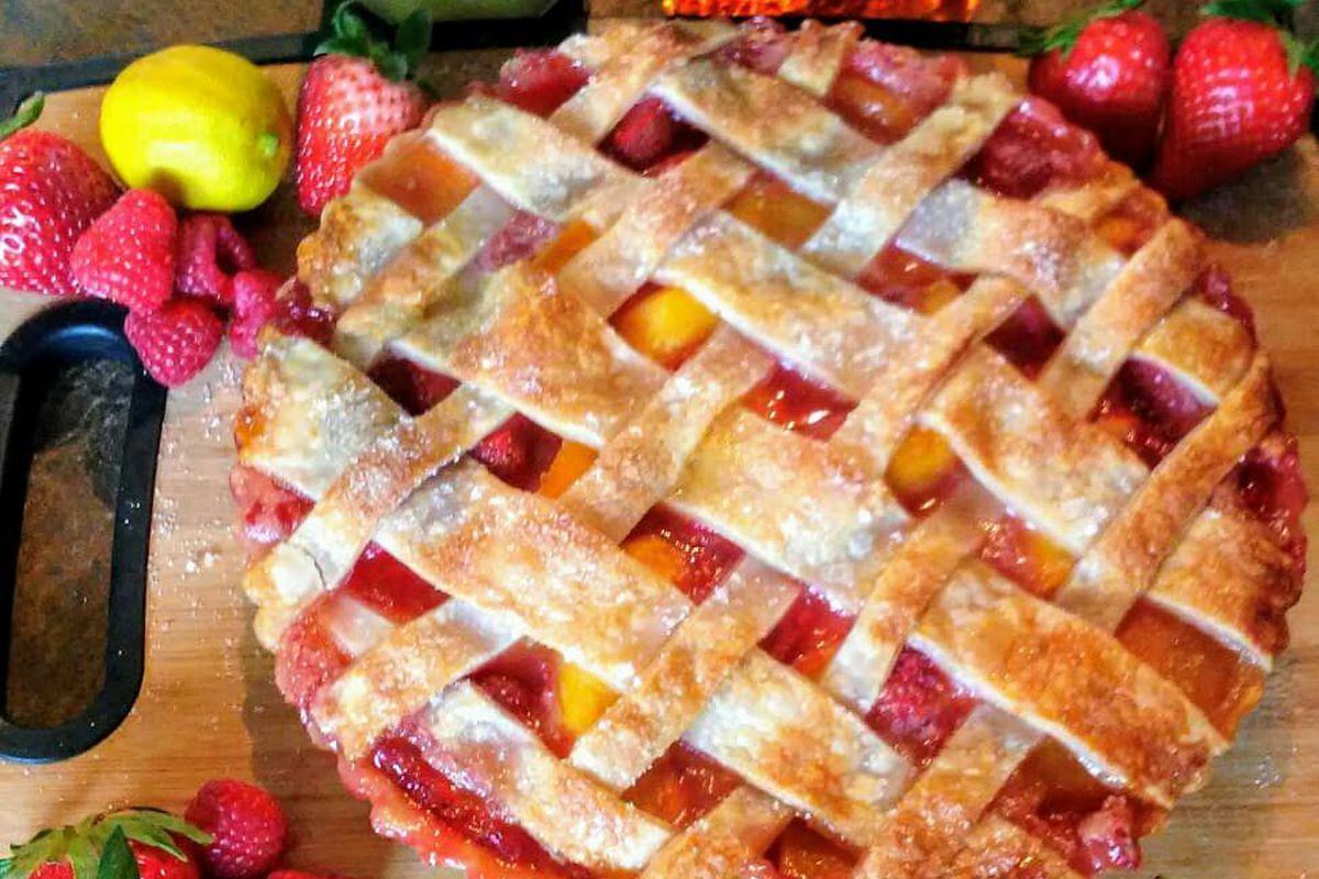 A boozy fruit pie from Baked and Boozy