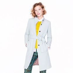 "<a href=""http://www.jcrew.com/womens_category/outerwear/wool/PRDOVR~18612/18612.jsp"">Double-cloth funnel coat</a>, $245 (was $350)"