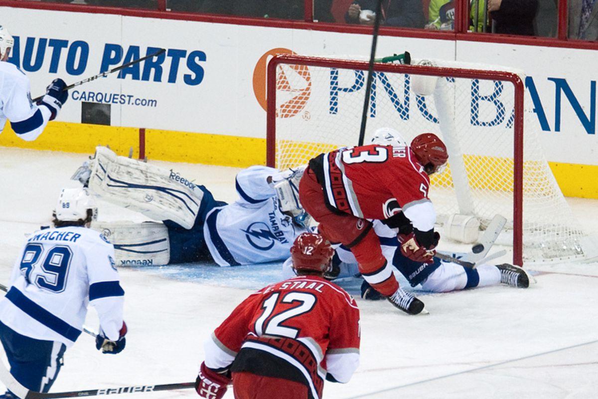 Jeff Skinner scores, Carolina Hurricanes vs. Tampa Bay Lightning, January 21, 2013
