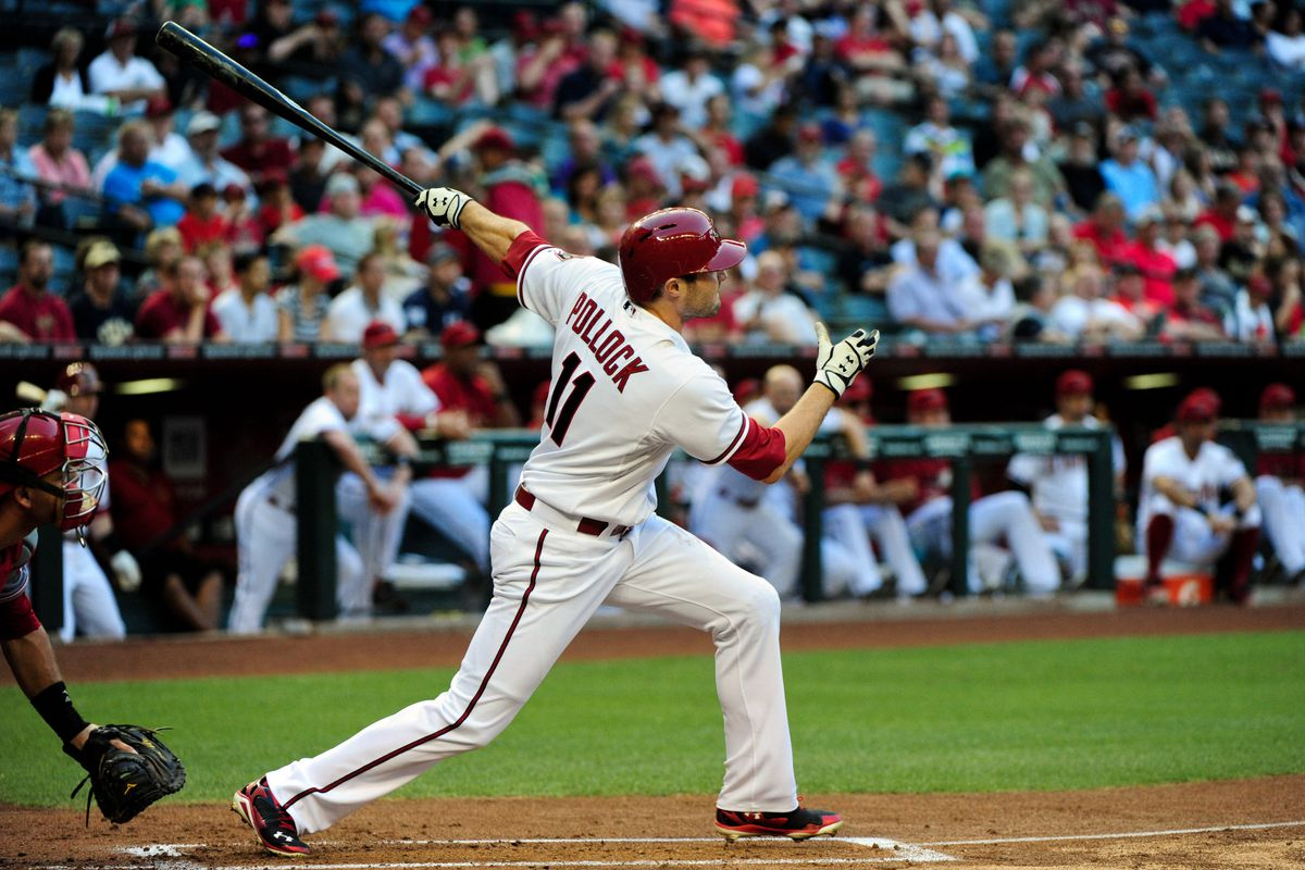 Before a broken hand took him out of the lineup, AJ Pollock was showcasing an extreme reverse platoon split during his breakout 2014 campaign