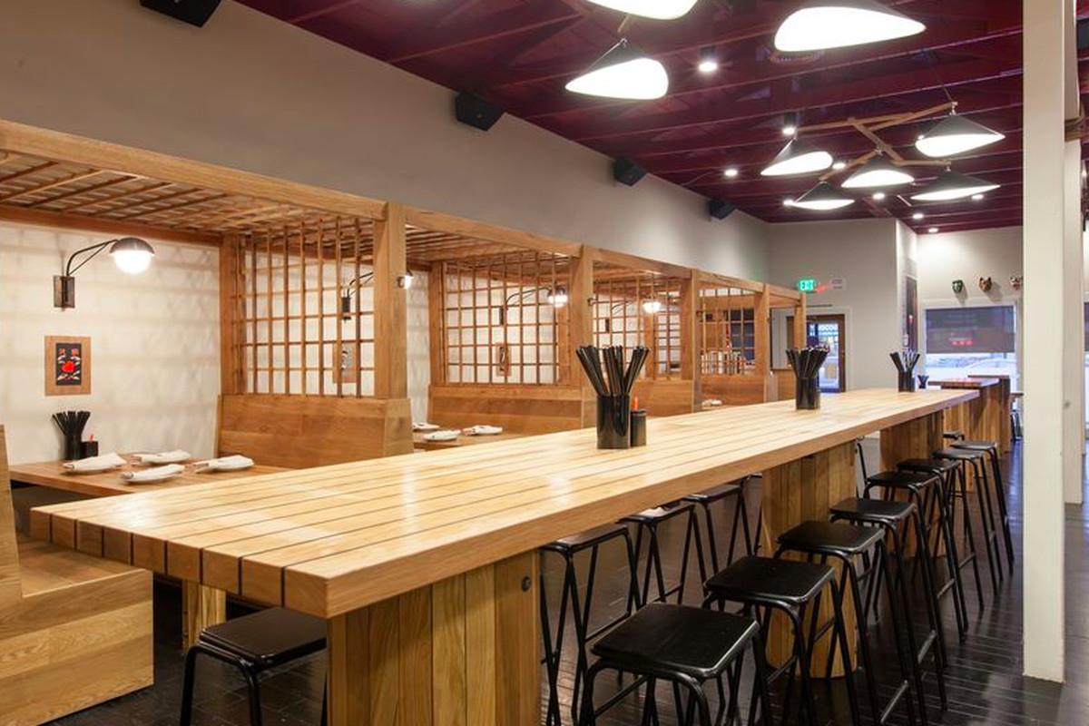 Hapa Ramen's main dining room on Mission Street