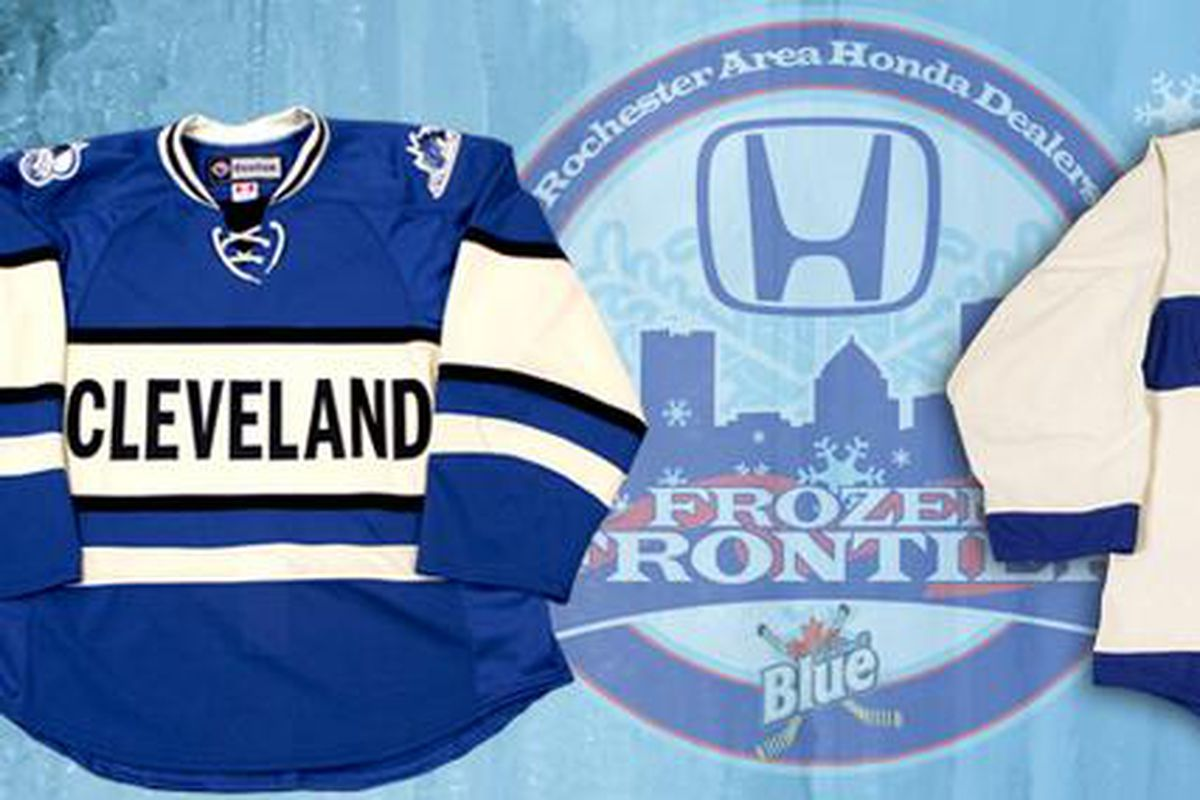 Frozen Frontier jerseys revealed in Rochester on Monday