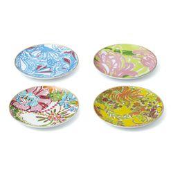 Porcelain plates with 18K gold rim, $35