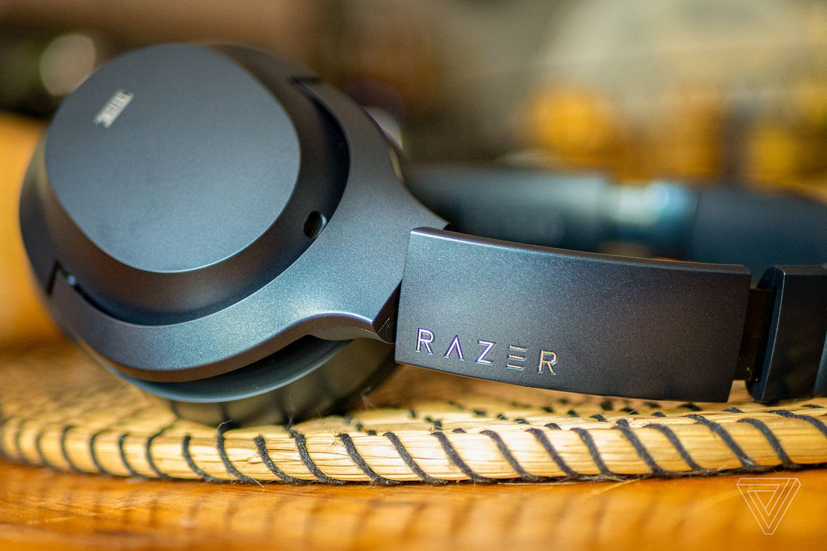 Razer Opus laying sideways