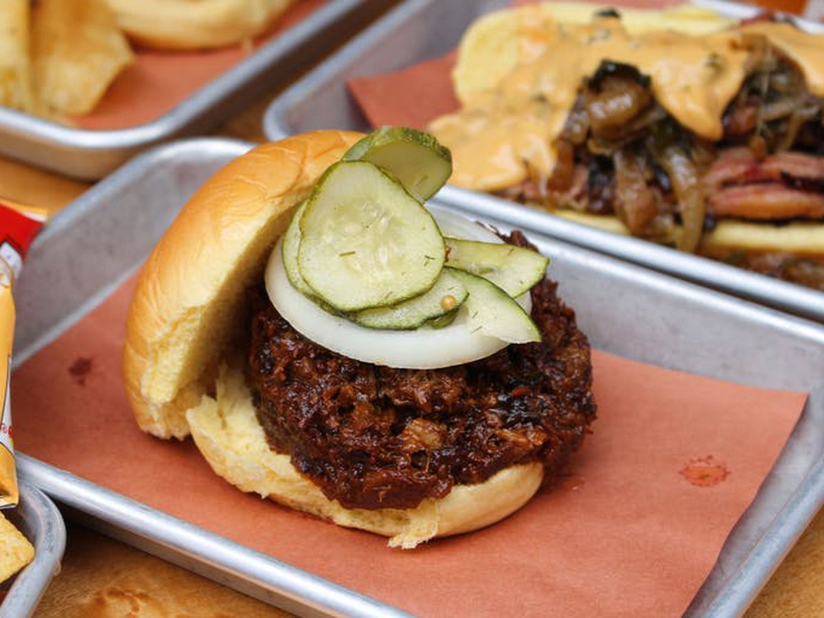 A brisket sandwich from Hill Country