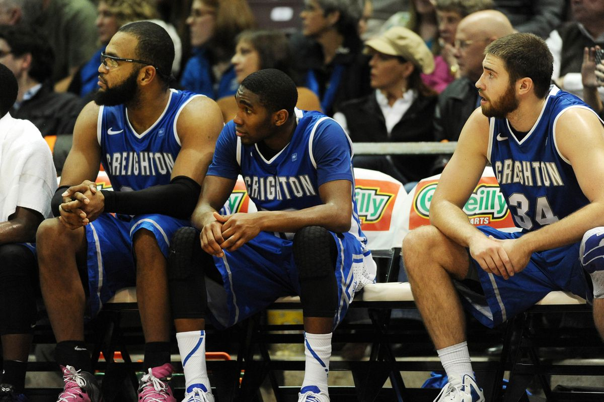 The same two things were missing from both this photo and Creighton's performance tonight.