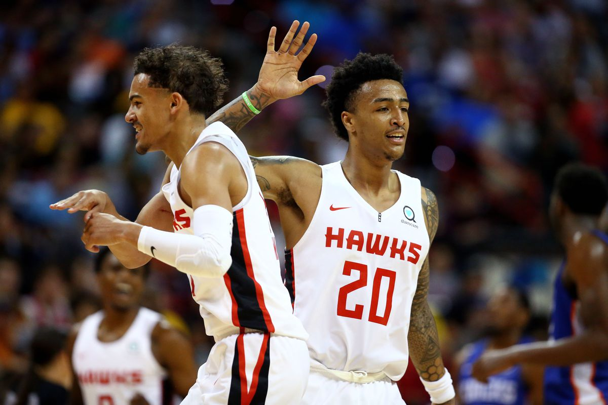 Trae Young and John Collins establishing chemistry in loss to Knicks ... 5094620042