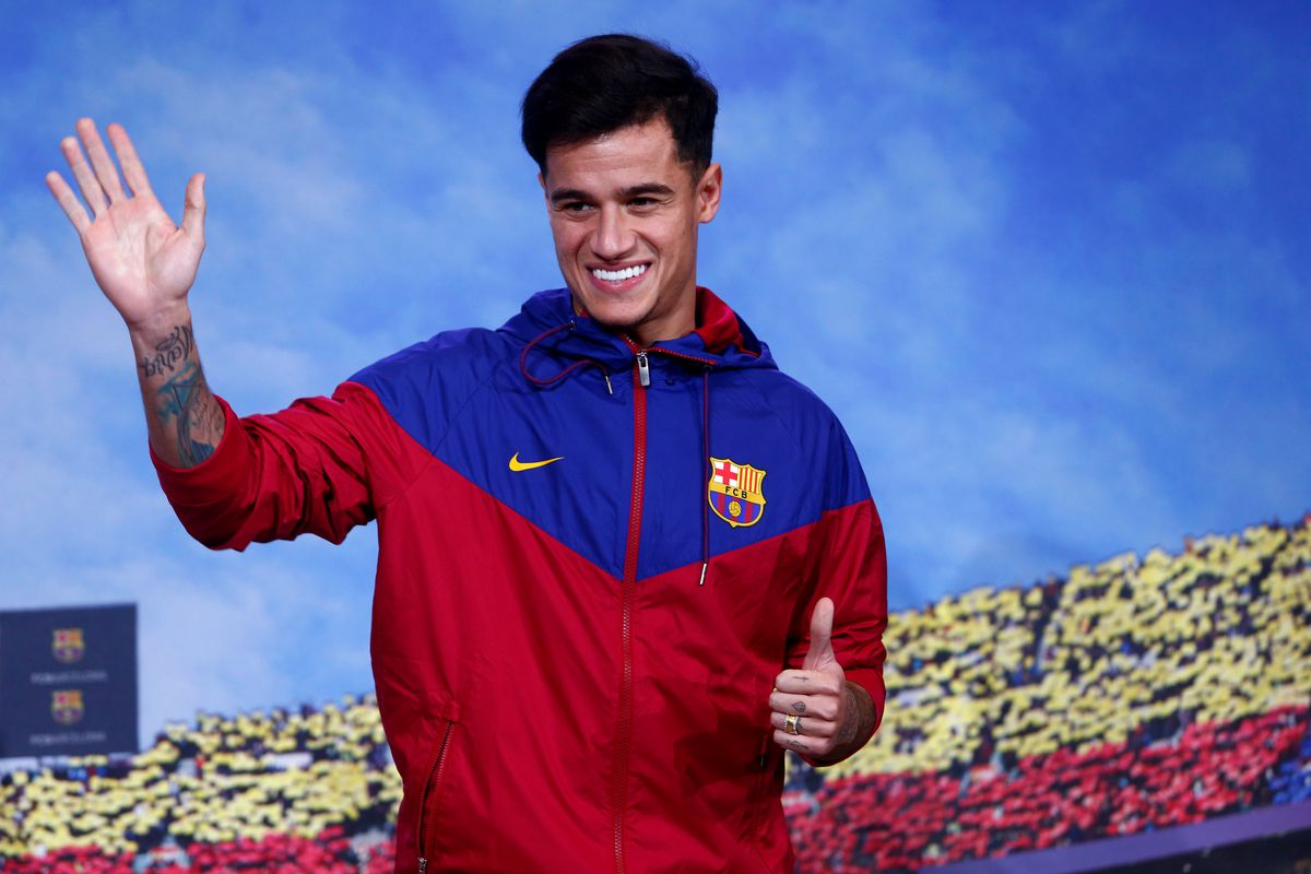2017 FC Barcelona announce the singing of Philippe Coutinho Jan 7th