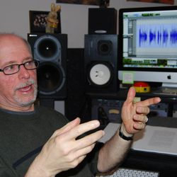 Kenny Hodges talks about the process of producing audiobooks in his basement studio. Hodges is an independent contractor who produces audiobooks for Deseret Book and Shadow Mountain Publishing.