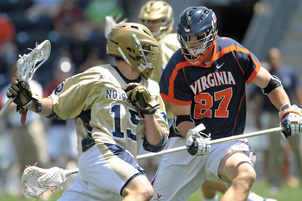Scott McWilliams (27) is one of three new captains for the Virginia Lacrosse squad.