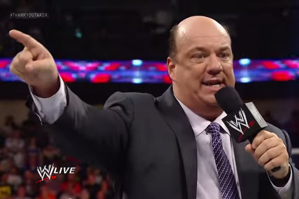 Paul Heyman Brock Lesnar Is Going To Kick John Cenas Ass All Over Monday Night Raw