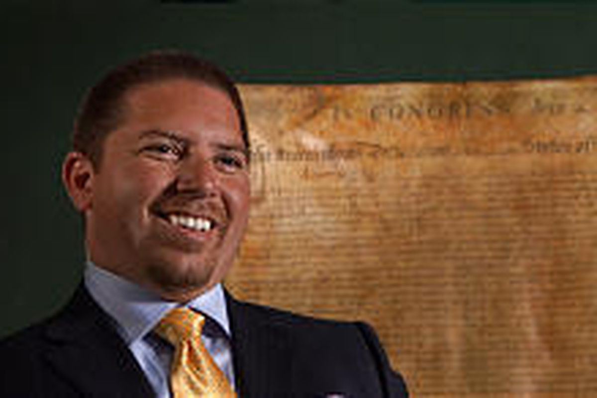 Cary Valerio is CEO of Bray-Conn, which paid $477,650 for a copy of the Declaration of Independence.