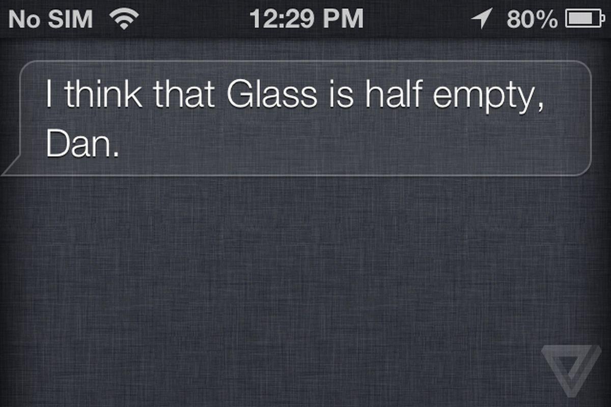 Siri beefs with Google Glass