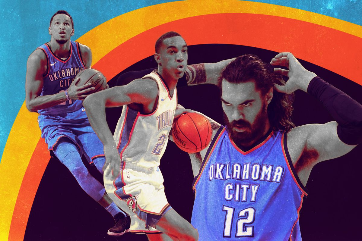 Andre Roberson, Terrence Ferguson, and Steven Adams