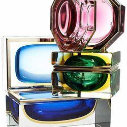 Alessandro Mandruzzato Cased Glass Boxes, $550 to $1,185