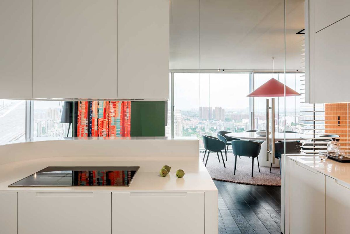 Modern City Apartment Dazzles With Colors And Curves Curbed