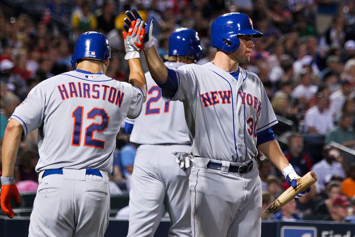 Scott Hairston and most other New York Mets could be on their way out of town before the MLB trade deadline. Credit: Daniel Shirey-US PRESSWIRE