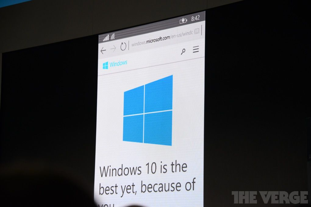 Project Spartan Windows 10 for phones