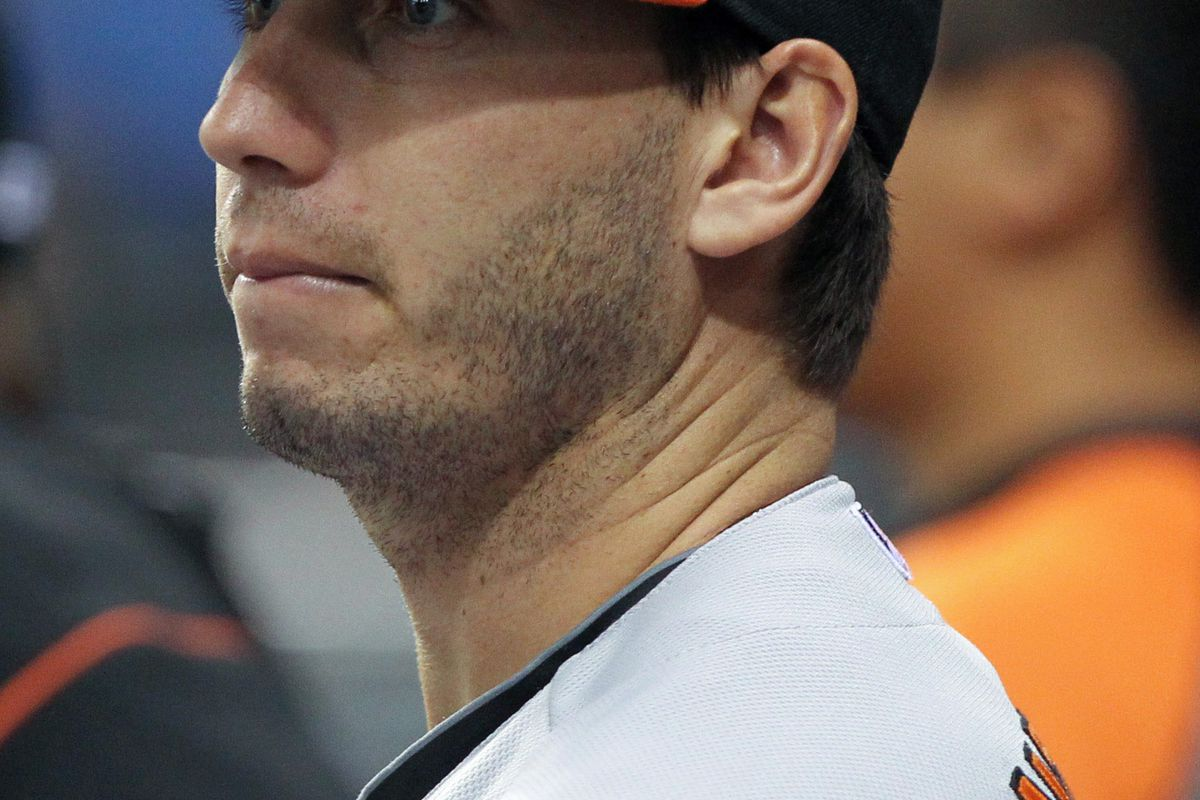 Photographers love taking pictures of Miguel Gonzalez staring intently.