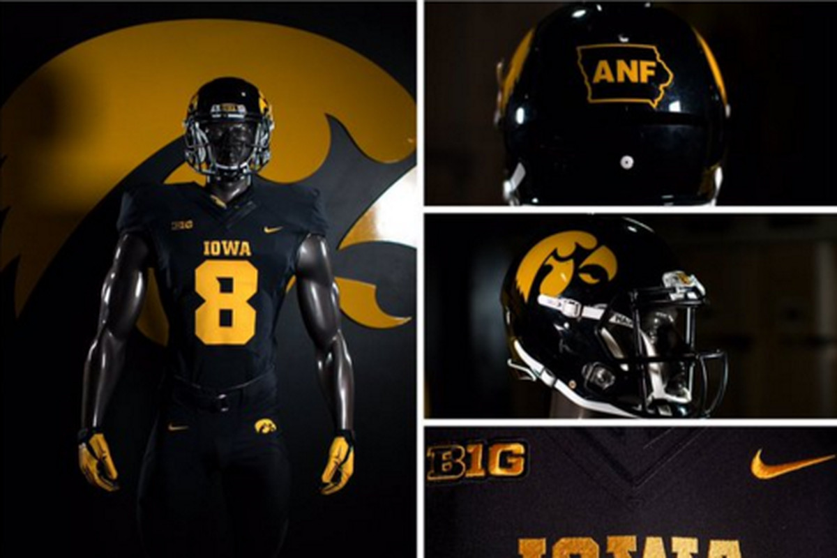 HERE'S YOUR IOWA HAWKEYE BLACKOUT UNIFORMS FOR TONIGHT ...