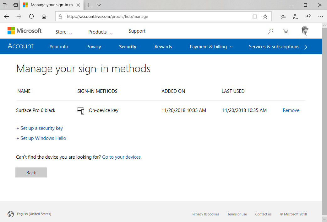 You can now sign into a Microsoft Account without a password