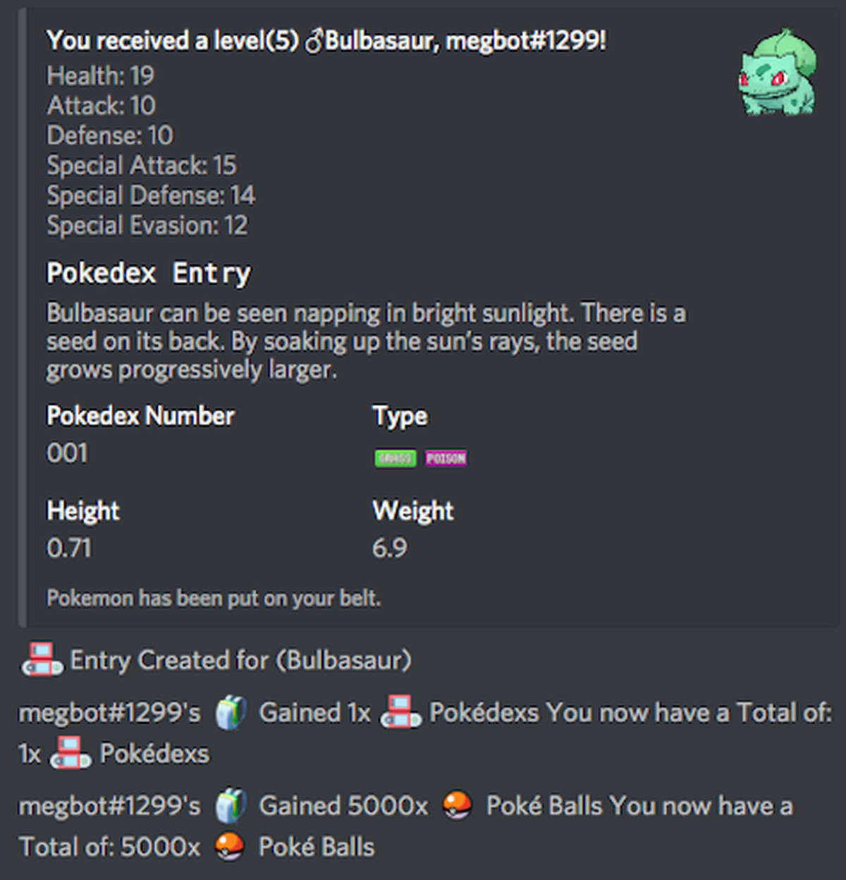 This discord bot turns pokmon into a text based adventure the verge a california based programmer who goes by bioblaze payne created the bot they started the project in late july and had a prototype completed with all 151 ccuart Choice Image