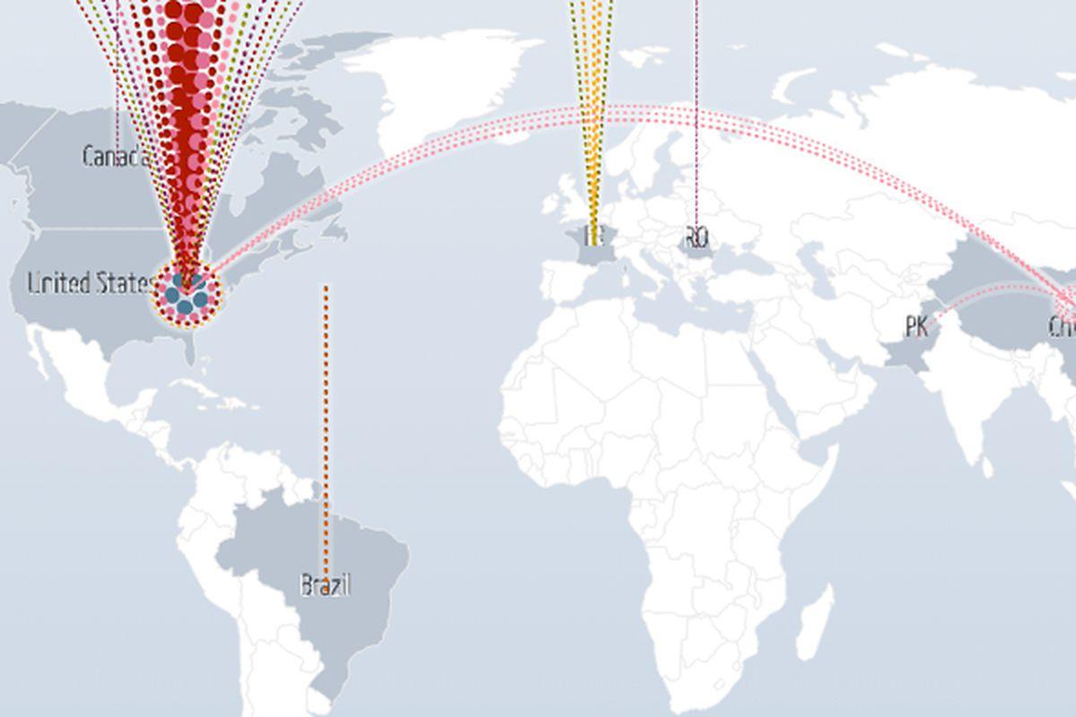 Google DDoS Map