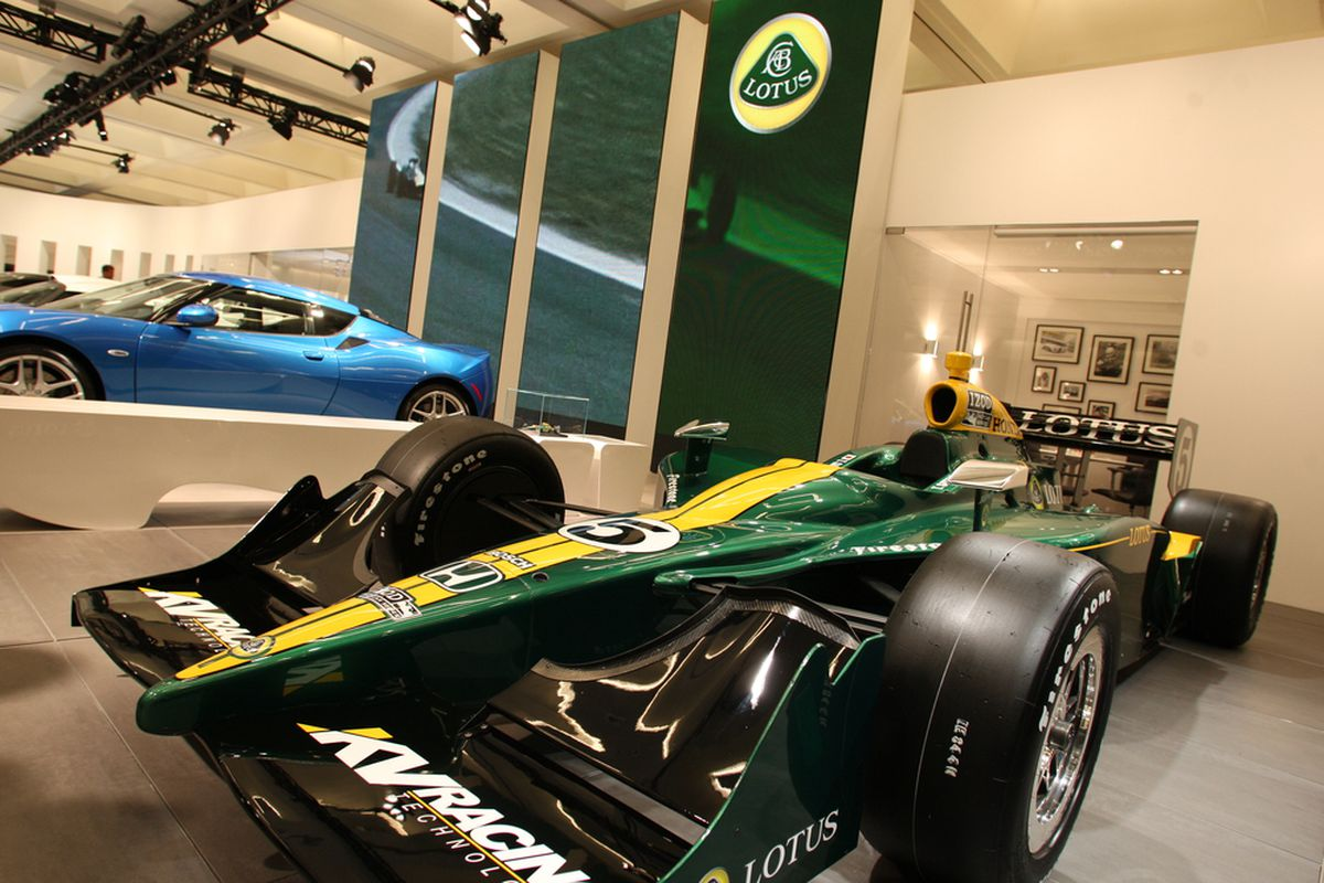 Lotus announced their entry into the 2012 IZOD IndyCar Series as an engine and aero-kit provider last week at the L.A. Auto Show (Photo: Chris Jones/IMS Photo)