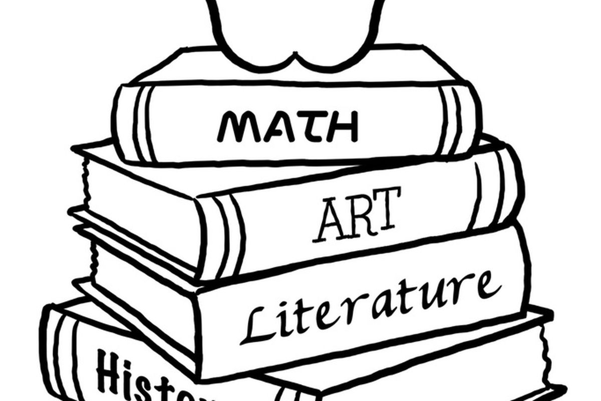 """Remember when we had to take ALL these subjects? (via <a href=""""http://www.dulemba.com/Blogstuff/ColoringPageTuesdays/Back2SchoolBooks-big.jpg"""">www.dulemba.com</a>)"""