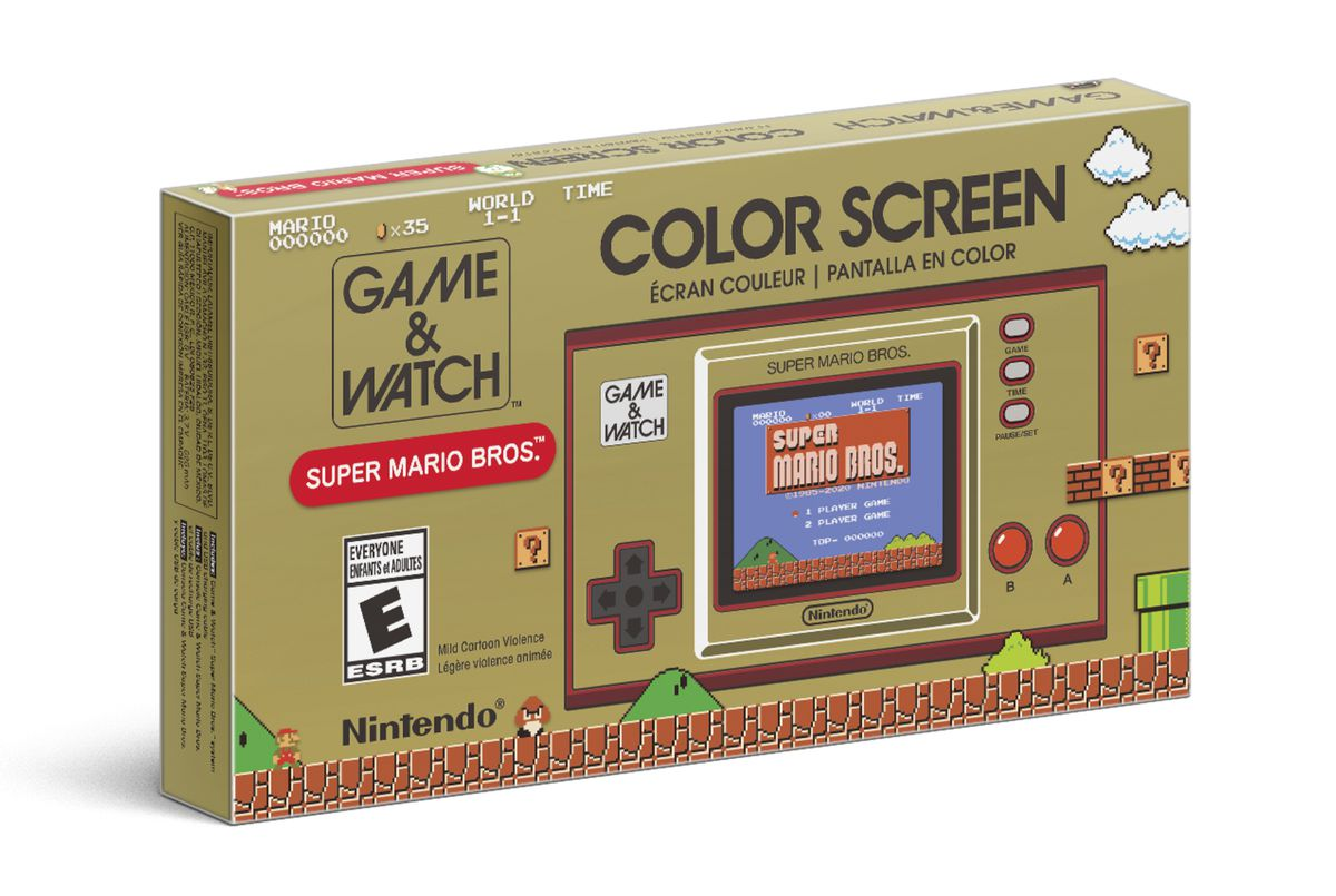A photo of the Game & Watch: Super Mario Bros. box