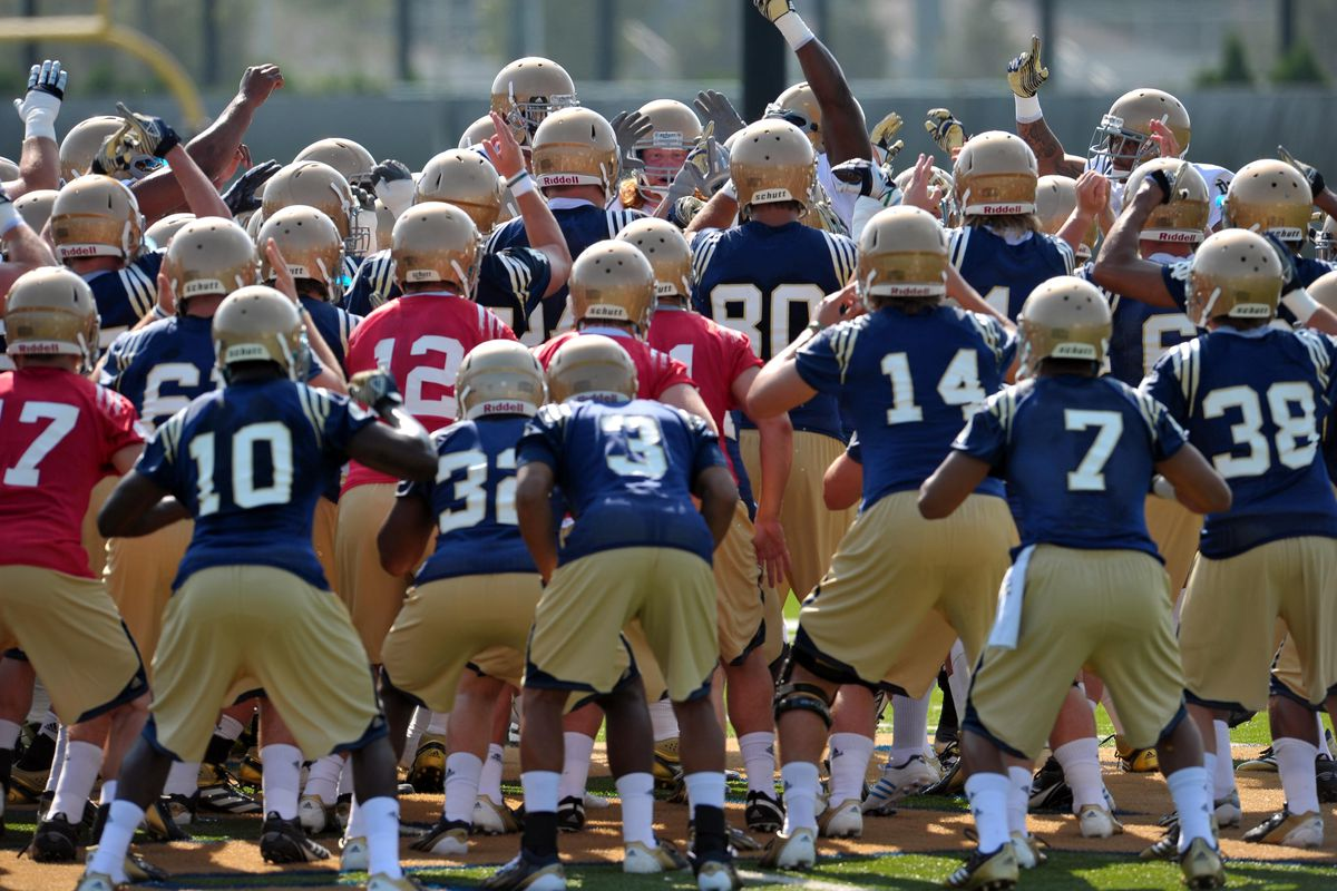 Aug. 4, 2012; South Bend, IN, USA; The Notre Dame Fighting Irish huddle during practice at the LaBar Practice Complex. Mandatory Credit: Matt Cashore-US PRESSWIRE
