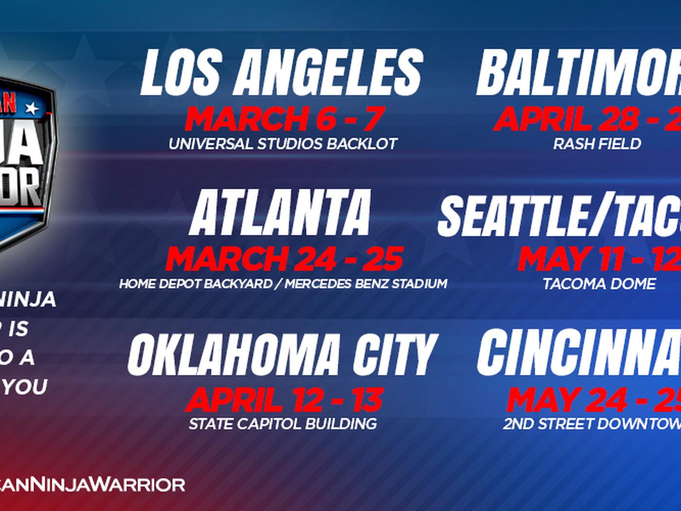 American Ninja Warrior: Season 11 locations and taping dates