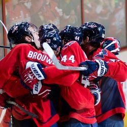 Hugs For Carlson Goal