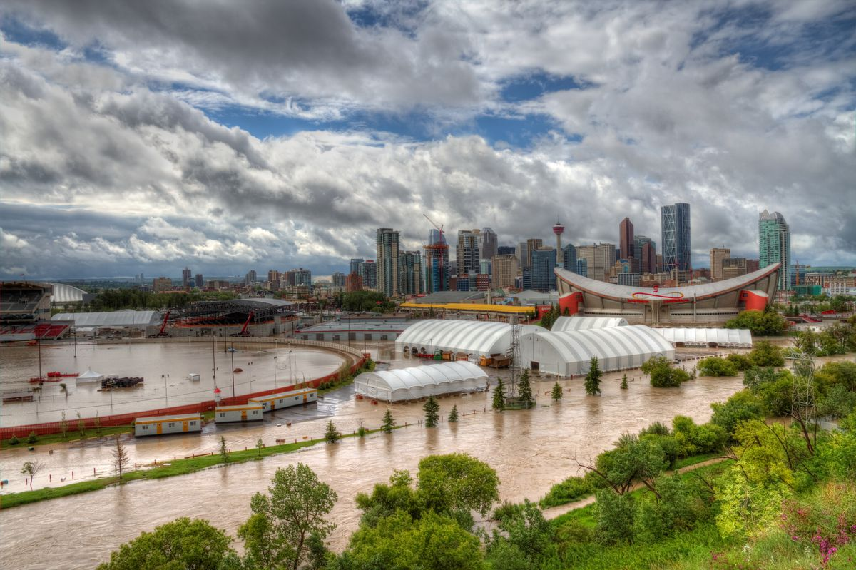 Flooded Calgary Stampede Grounds - June 2013