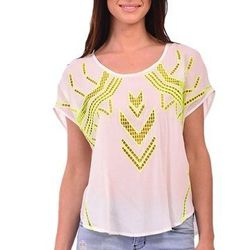 """White and yellow cut out top, <a href=""""http://shopblush.com/shop/all/BLB02060-white-yellow-cut-out-top#.Uzzy2a1dVi6"""">52</a>"""