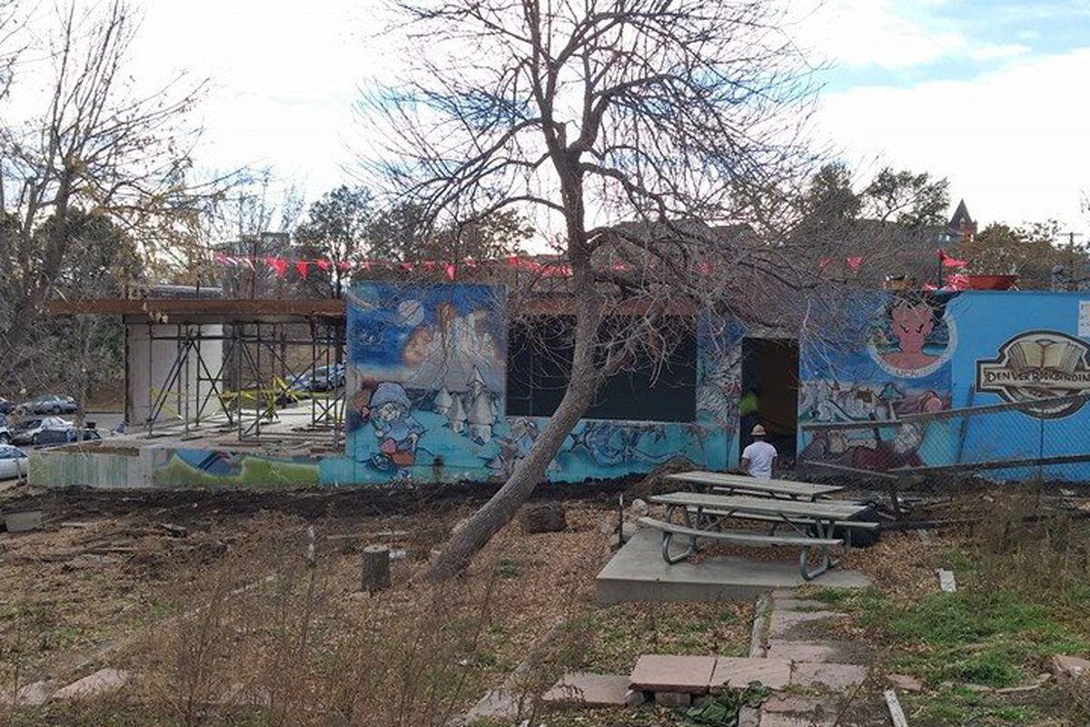 Future home of Recess, construction began