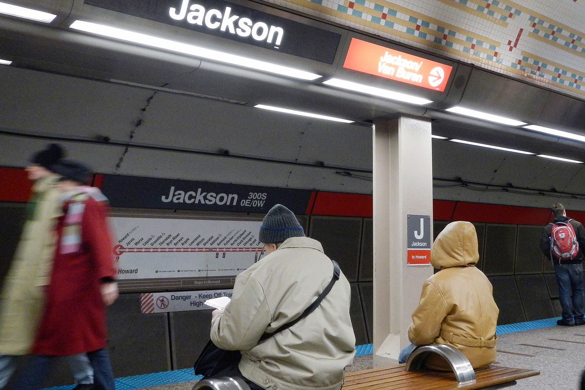 A man allegedly punched an officer in the face Dec. 9, 2020, at the Jackson Red Line stop, 230 S. State St.