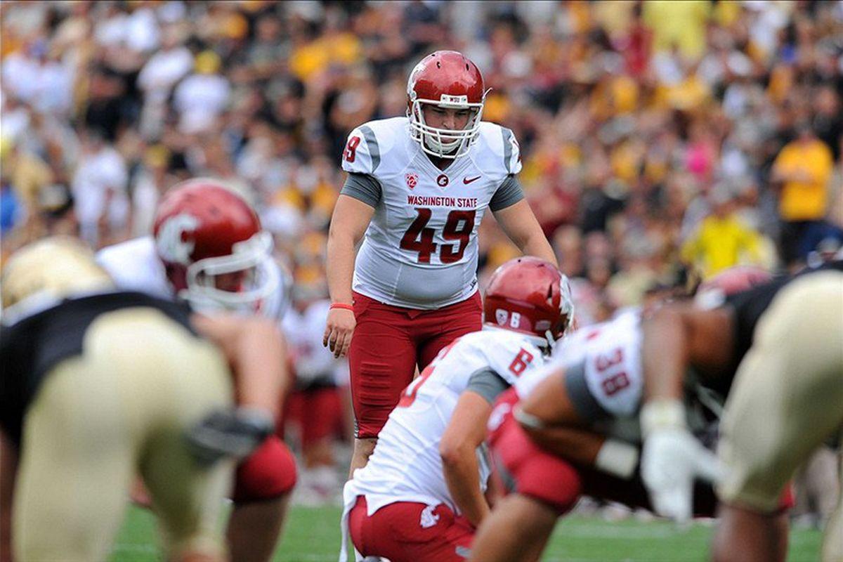Andrew Furney: Part lineman, part kicker, part shifty running back. Photo via Ron Chenoy-US PRESSWIRE